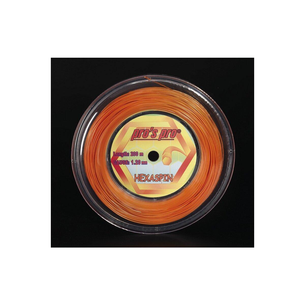 CORDE TENNIS PRO'S PRO SYNTHETIC ORANGE 200 M 1,35